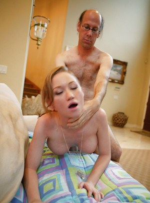 Teen babe Madison Scott exposes her tits and gets fucked by an oldman