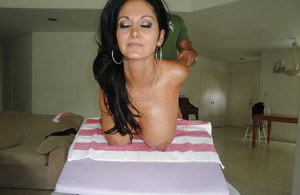MILF babe Ava Adams gets her back massaged and her cunt fucked hard