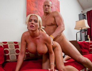 Big titted wife Jordan Pryce gets her cunt licked and fucked hard