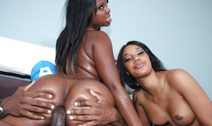 Black babes Capri and Stacy exposing their butts for hardcore banging