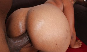 Black plumpers MzBooty and Manaje-a-star have rough anal groupsex