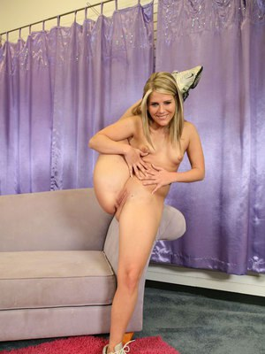 Teen coed Megan Reece stripping to show her flexy body and pussy