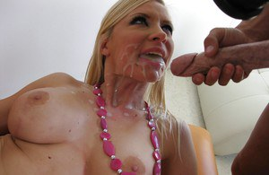 Helena Sweet with big tits gets surprised by a cumshot and fucked hard
