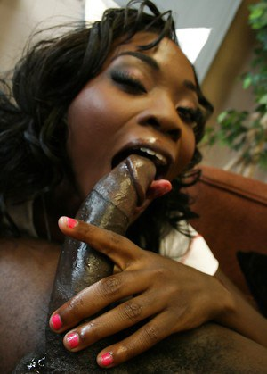 Black babe in uniform Osa Lovely sucking a big dick and has anal sex