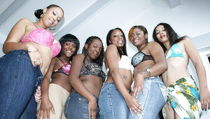 Tony Sweets and her ebony girlfriends showing hot booties