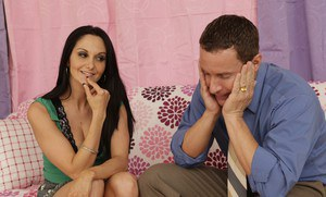 MILF wife Ava Addams gets a cumshot on her huge tits after sex