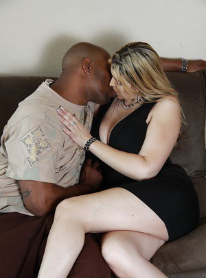 Plump MILF Athena Pleasures enjoys fucking fat cock in interracial sex
