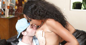 Black babe with big boobs Desire Ware getting hardcore fucked