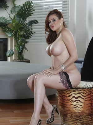Butt and big tits of fatty mature Latina Sheila Marie are great