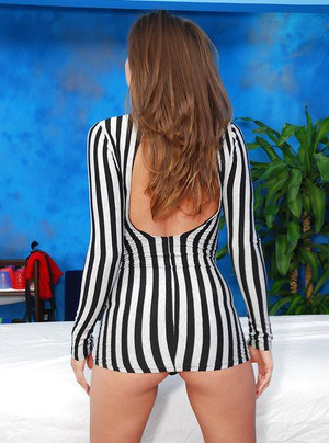 Take a look at big perfect bum of this teen babe Tori on massage pics