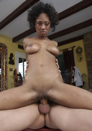 Young black babe Evanni Solei getting her tight pussy fucked