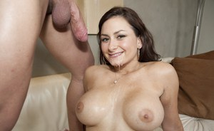 Latina babe Penelope Tyler with big tits fucks till a cumshot