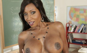 Ebony teacher Diamond Jackson is mature lustful whore with big tits