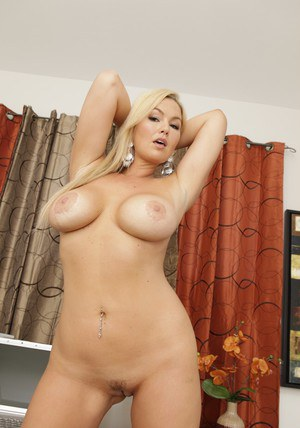 Abbey Brooks shows big tits in office while this babe is masturbating