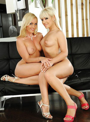 Lesbian babes with hot bodies Kathia Nobili and Bibi Noel toying pussy