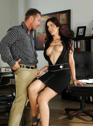 Office secretary Mira strips to get fucked hardcore in the office