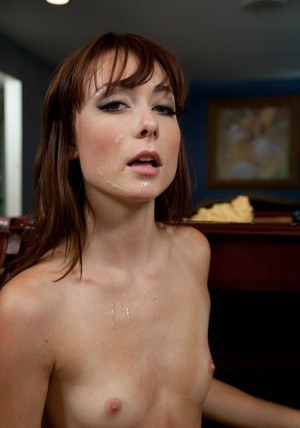 Young babe with tiny tits Zoe Voss fucks hardcore on the pool table