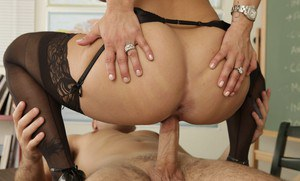 MILF teacher with huge tits Shyla Stylez giving a blowjob and fucking