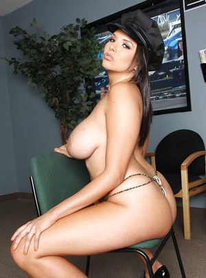 Latina babe Missy Martinez takes off lingerie to show her curvy body