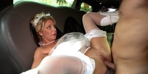 Horny milf Stepphanie gets bride uniform ripped up for hardcore sex