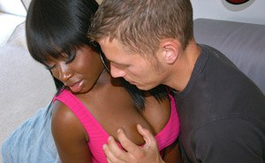 Big titted black girl China Doll fucked and jizzed over her butt