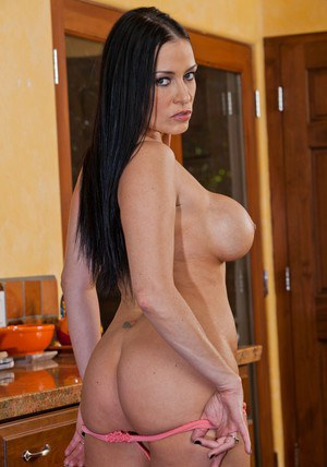 Mature whore Vanilla DeVille loves petting own big boobs and juicy ass