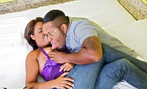 Big ass girl Sophia Pacheco getting fucked by a huge black cock