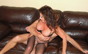 Mature slut in pantyhose Margo Sullivan fucked in her moist cunt