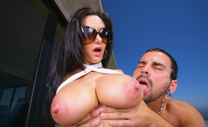 Big tits of horny milf Ava Addams bounce during outdoor hardcore sex