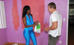 Stunning ebony girl Hydie Waters gets her butt blasted with cum