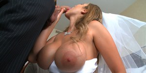 Busty bride Alanah Rae gets shagged hardcore and drenched in hot cum