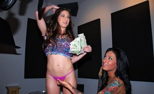 Young babe Alexa Jones gets her tight pussy drilled hardcore for cash