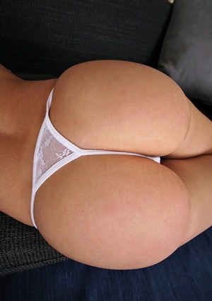 European babe in white panties Kitty showing her cunt and fuckable ass
