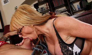 Lusty sex teacher with big tits Taylor Wane gets her pussy fucked