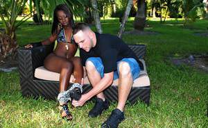 Fuckable ebony babe in stockings Staxxx fucking hardcore outdoor