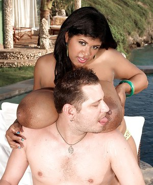 Chubby Latina MILF babe Kristina Milan gets fucked outdoor