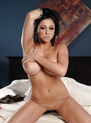 Gorgeous MILF wife Audrey Bitoni shows off her amazing big melons