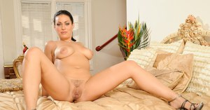 Cute Angelica Raven spreading her legs and touching her cunt