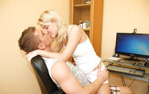 Passion filled kiss ends with sensational blonde Maaike getting nailed