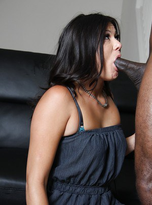 Asian MILF Cece Stone gets her pussy licked and fucked by a black guy