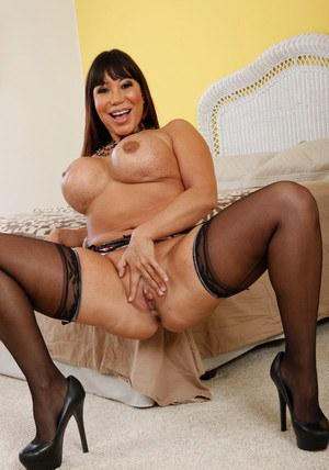 Fatty asian MILF Ava Devine stripping and fingering her asshole