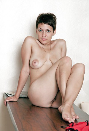 Hot babe with big tits Karina taking off her dress and spreading her legs