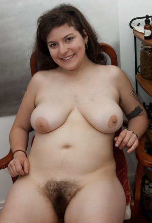 Fatty babe with flabby tits and hairy armpits Esther stripping