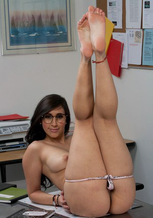 Busty brunette coed in glasses Valerie Kay stripping in the class