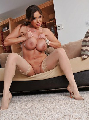Asian mature lady Kianna Dior stripping and spreading her legs