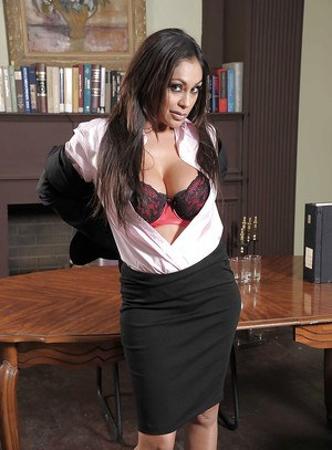 Curvy indian MILF with big jugs Priya Anjali Rai stripping in the office