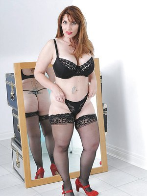 Phrase big ass mature stockings and high heels