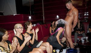 Slutty bridemaids go wild at the CFNM bachelorette party