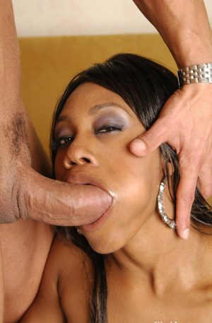 Busty ebony babe Vivica Coxxx gets a facial cumshot after hardcore fucking