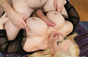 Fatty MILF with massive jugs Bunny DeLacruz gives a blowjob and gets nailed
